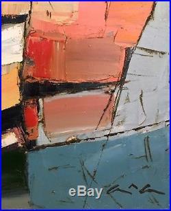 Original painting Boats Oil on canvas 18x24 by Anastasiya Kimachenko