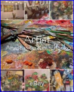 Original painting Landscape Oil on canvas 18x24 by Anastasiya Kimachenko