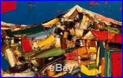 Original painting Mountains Oil on canvas 24x48 in by Anastasiya Kimachenko