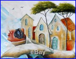 Original painting Oil on canvas 20x16 CONTEMPORARY ART surrealism POST FACTUM