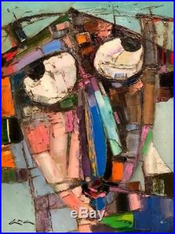 Original painting Portrait Oil on canvas 18x24 by Anastasiya Kimachenko