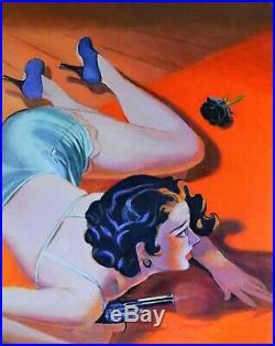 Original pulp cover illustration art acrylic Painting on canvas Jane Ianniello