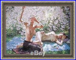 Original women Oil painting female art chinese nude girl On Canvas 30x40 inch
