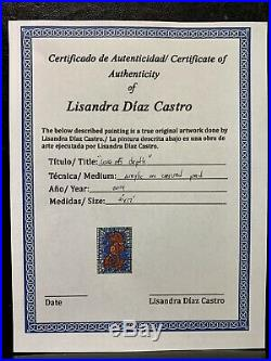 PAINTING ORIGINAL ACRYLIC ON CANVAS (FRAME INCLUDED) CUBAN ART by LISA