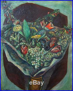 PAUL BURLIN Signed c. 1925 Original Oil on Canvas Painting LISTED
