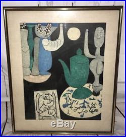 PAUL KLEE Original STILL LIFE 1940 Oil on Canvas RARE Art WORTH A LOT