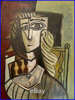 PICASSO -Original OIL PAINTING on CANVAS signed, Provenance, JUST BEAUTIFUL