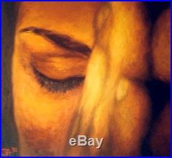 PRAYER Original Signed Oil on Canvas by Melissa McCrink 36'' x 36'