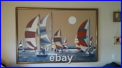 Painting by Letterman. Length 5ft. Long. Height 3 1/2 ft