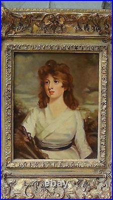 Pair Antique English School Oil Portraits Of Lady Happner & Lord Fon Welton