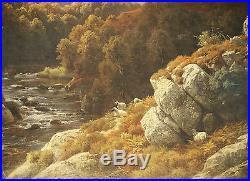 Paul Weber (American/German 1823-1916) huge original Oil on Canvas Painting 1859