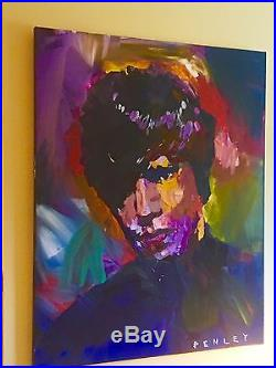 Penley Icon Acrylic On Canvas Mick Jagger 60 X 48 Original Hand Painted