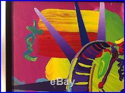 Peter Max Liberty Head original painting acrylic on canvas