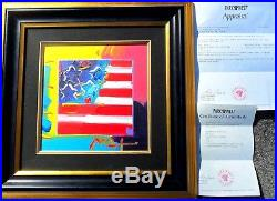 Peter Max ORIGINAL PAINTING ON CANVAS Park West Gallery COA+$16,000 appraisal