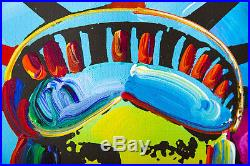 Peter Max Original Acrylic Painting on Canvas 1/1 Liberty 25k+ Gallery Retail
