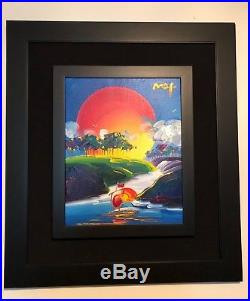 Peter Max Original Acrylic on Canvas Without Borders
