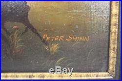 Peter Shinn Signed Framed Original Oil on Canvas John Wayne Art Painting