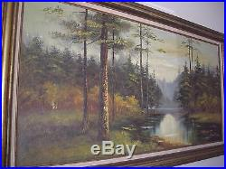 Phillip CANTRELL HUGE ORIGINAL OIL ON CANVAS RIVER MOUNTAIN PAINTING