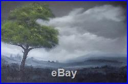 Pip Walters Signed Large Original Landscape Oil Painting On Stretched Canvas