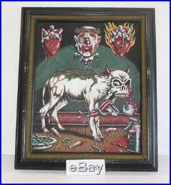 R. K. Sloane Original Acryllic on Canvas Painting Clown's Best Friend 1990