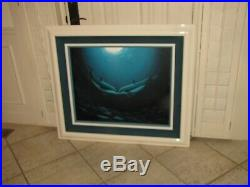 ROBERT WYLAND Original Oil Painting on Canvas 30x36 Signed 1997 Dolphins