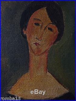 Rare Antique Original oil, painting, on canvas signed Amedeo Modiglian w COA