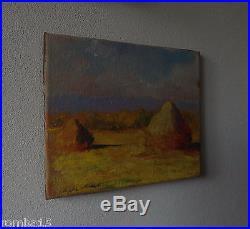 Rare Impressionist Original oil, painting, on canvas signed Claude Monet w COA