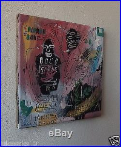 Rare original oil, on canvas painting, signed Jean Michel Basquiat w COA & DOCS