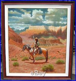 Redwing Nez Antelope Coho Scout Navajo Artist Original Oil Painting on Canvas