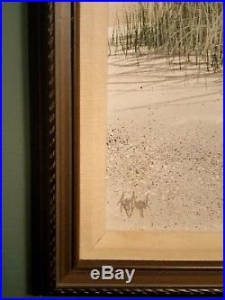 Rex Duggar original signed and framed, Seascape oil painting on canvas, 31x25