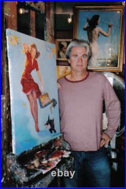 SALE Gil Elvgren GAY NYMPH Pin-Up ISLAND MEMORIES Pinup ORIGINAL PAINTING TIKI