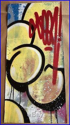 SEEN Graffiti Legend! Original spray paint on canvas. Invader, Banksy, KAWS