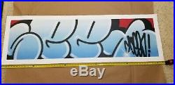 SEEN Graffiti Legend! Original spray paint on canvas NOT Invader, Banksy, KAWS