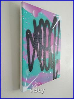 SEEN UA Original Stretched Canvas Graffiti Painting urban art NOT retna saber