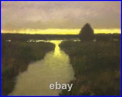 Salt Marsh Gold Moody Tonalist Impressionism Art Oil Painting Landscape Realism