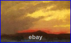 Santa Fe Southwest Landscape Art Oil Painting Western Mountains Monsoon Sunset
