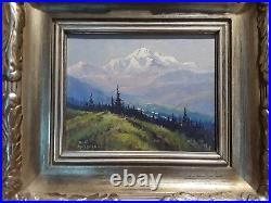 Scott McDaniels painting Peak Of Summer, at Mt. McKinley 2-2-1998