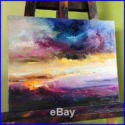 Scottish Sunrise signed original oil painting on canvas 50x40cm fine art