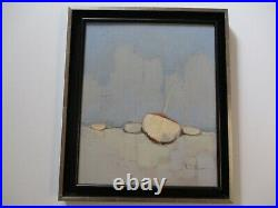 Serge Le Tellier Painting Coastal Boats Landscape Impressionist French Modern
