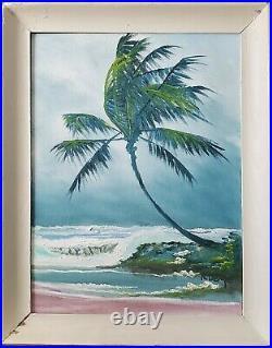 Signed Florida Highwaymen Oil Painting Rodney Demps(1953-2020) Rio Mar