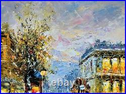 Signed Oil On Canvas, Framed Painting, Autumn Paris Cityscape, French Scenery