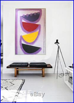 Sir Terry Frost Tolcarne Rhythm Giant Original Acrylic/collage On Canvas