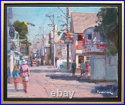 Street In Provincetownlisted Artistoriginal Oil Painting By Marc Forestier