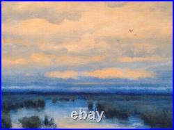 Sunrise Wetlands Realism Landscape OIL PAINTING ART IMPRESSIONIST Original