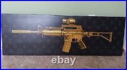 Supreme LV Louis Vuitton, Gucci, Bape, Prada, GOLD AK 47, AR 15, M4A1, GUN ART