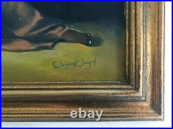 Susan Smith Art Deco Flapper Girl Oil On Canvas Painting withGilt Frame Nice