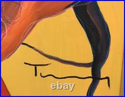 Tarkay Original Acrylic HUGE. 40 x 40 REDUCED