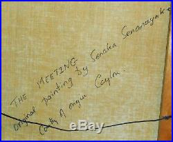 The Meeting Original Rain Forest Oil On Canvas Painting By Senaka Senanayake