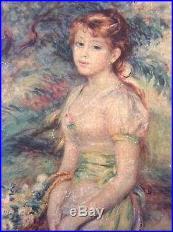 The ORIGINAL ON CANVAS PAINTING SIGNED MASTERPIECE BY PIERRE AUGUSTE RENOIR 1888