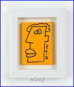 Thierry Noir Head Original on Canvas